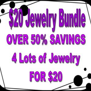 4 Lots of Jewelry for $20